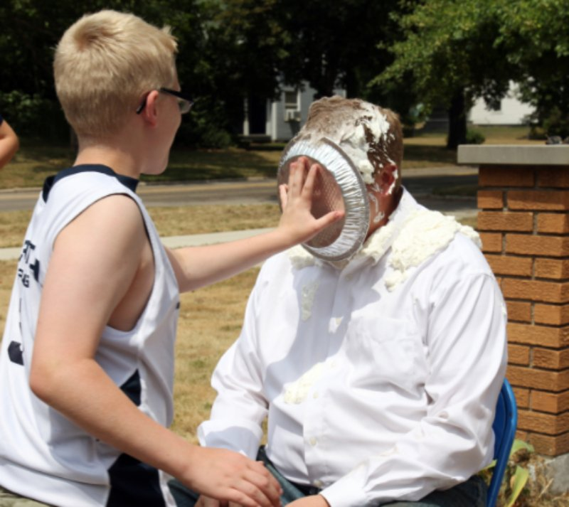 Would you take a pie in the face if it helped others here about Christ?